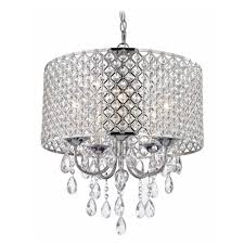 Double Drum Shade Chandelier Crystal Chrome Chandelier Pendant Light With Crystal Beaded Drum