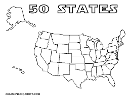Outline Map Of United States by Blank Printable Map Of The Usa United States America With State