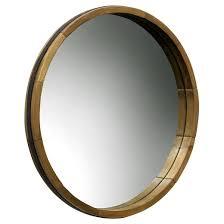 Decorative Mirrors Target Round Decorative Wall Mirror Wood Barrel Frame Threshold Target