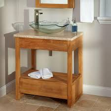 bathroom vanities with vessel sink 355403 l teak bathroom vanity