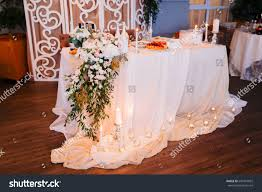 wedding style rustic table decoration lamps stock photo 601954055