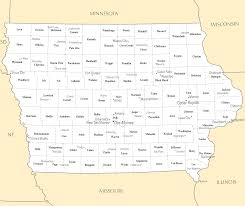 Illinois Map With Cities by Iowa Map Blank Political Iowa Map With Cities