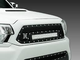 tacoma grill light bar 2012 15 tacoma mesh grille grill torch series led bar trex sleek