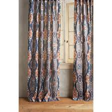 Blue And Orange Curtains Anthropologie Stretched Ikat Curtain Polyvore