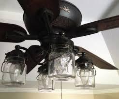 hunter mason jar ceiling fan vintage canning jar ceiling fan light kit 149 00 via etsy with
