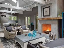 glass wall concrete flooring frosted exposed brick loft custom