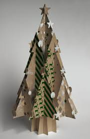 a decorative tree made from 100 recycled paperboard cool