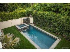Great Small Backyard Ideas Narrow Pool With Hot Tub Firepit Great For Small Spaces In