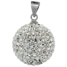 silver crystal ball necklace images Sterling silver jewelry swarovski other crystals pendants jpg