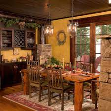 rustic dining room with a touch of tuscan an example of how