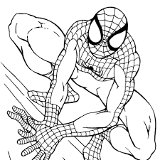 quality free spiderman cartoon coloring books kids
