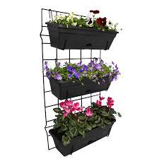 Vertical Garden For Balcony - whites outdoor 3 pot garden up vertical garden set bunnings