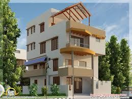 luxury contemporary villa design kerala home floor plans image on