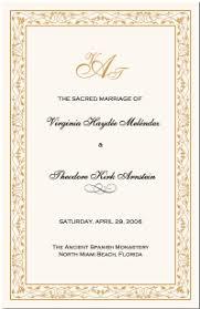 Wedding Programs Samples Celtic Border Wedding Programs Wedding Program Wording Program