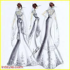 swan s wedding dress fashion designers sketch swan s wedding dress photo 264911