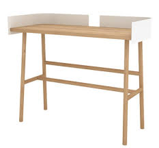 bureau 100 cm bureau b desk 100 x 45 cm chêne naturel blanc universo
