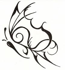 tribal butterfly feminine design ink clipart library