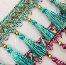 Beaded Fringe For Curtains Beaded Curtain Trim Probrains Org