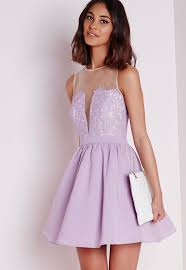 lilac dresses for weddings missguided lace puffball skater dress 45 affordable dresses