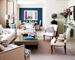 modern interior design antique accent pieces white blue gold black - Home Interior Accents