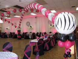 Sweet 16 Table Centerpieces Party People Event Decorating Company Zebra Sweet 16 Dance Canopy
