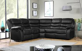 Recliner Corner Sofas Sorrento Leather Recliner Corner Sofa Black Only 899 99
