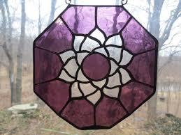 crown chakra reiki meditation stained glass suncatcher by