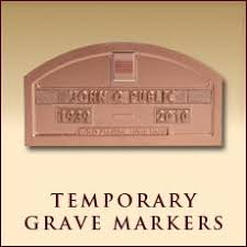 temporary grave markers messenger funeral stationery