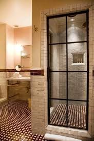 shower door spacer bathroom different types of glass for shower doors how to hide