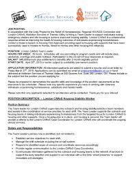 Date Of Availability Resume London Cares U2013 London Homeless Coalition