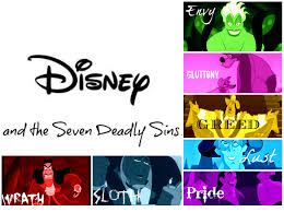 the seven deadly sins disney villains and the seven deadly sins all things disney