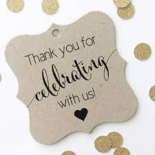 thank you favor tags thank you wedding tags thank you