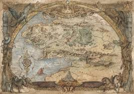 a map of middle earth lord of the rings middle earth map an print by