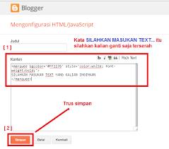 membuat teks berjalan menggunakan html code html tutorial cara membuat tulisan text berwarna berjalan