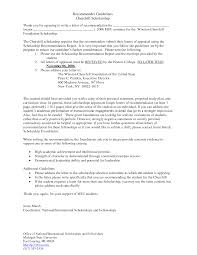 sample letter recommendation college scholarship image collections