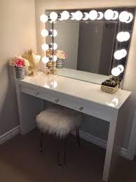 Room With Desk Vanity Mirror With Desk U0026 Lights Desk Light Vanities And Desks