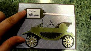 cricut you are a classic car card using wrap it up cartridge