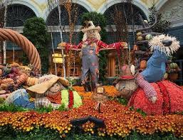 Bellagio Botanical Garden Conservatory Botanical Gardens Brings Pumpkins Scarecrows And