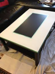 a stencilled lack coffee table ikea hackers ikea hackers