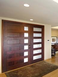 sleek wood front door with white trim by wood 7752 homedessign com