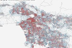 Map Of Beverly Hills Los Angeles by Mapping Los Angeles U0027s Lowest In The Country Homeownership Curbed La