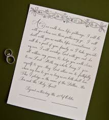 funniest wedding vows ever dallas calligraphy wedding day vows left handed calligrapher