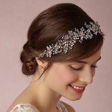 wedding headband silver rhinestone pearl headpieces wedding headband women hair