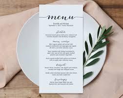 menu templates for weddings wedding menu printable template printable menu menu template