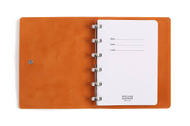 william hannah dark brown leather u0026 orange suede notebook