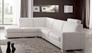 canapé blanc d angle canapé angle en simili cuir vachette blanc