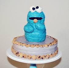 cookie monster party troy is 1 chickabug
