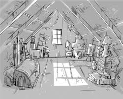 Attic Area by Old Attic Vector Illustration Royalty Free Cliparts Vectors And