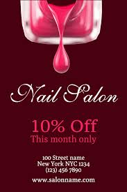 image template nail salon 10 off this month only pixteller