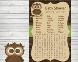 owl word search etsy